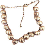 White Crystal Venus Flytrap Necklace 2 - Crystalline