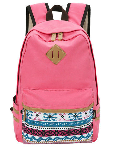 Canvas School Backpack - Crystalline