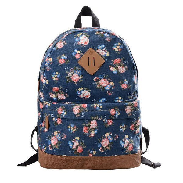 Casual Preppy Style Backpack - Crystalline