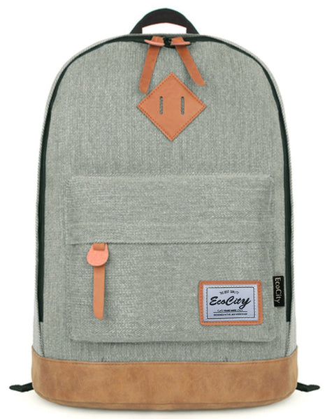 EcoCity Classic Vintage College School Laptop Backpack ( FREE 2 DAYS SHIPPNG ) - Crystalline