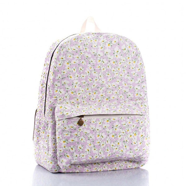 Daisy Print Canvas School Backpack Book Bag - Crystalline