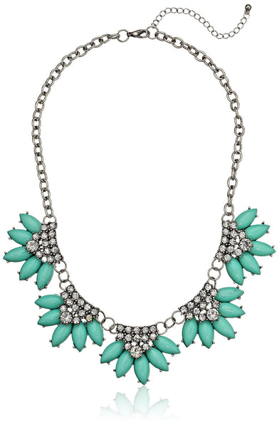 Crystal Station Statement Necklace - Crystalline