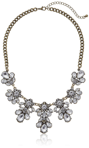 Jeweled Station in Burnished Necklace - Crystalline