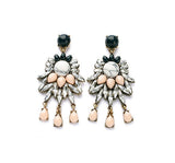 Multicolor Rhinestone Statement Drop Earrings - Crystalline