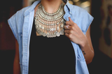 Boho Coin Necklace - Crystalline