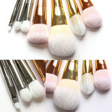 Pro 7pcs Makeup Brushes Set Powder Foundation Eyeshadow Eyeliner Lip Brush Tool - Crystalline