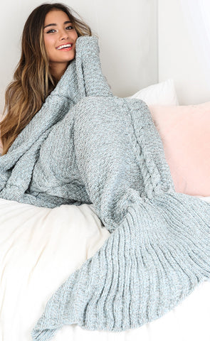 ♡Blue Grey Mermaid Blanket Tail  ♡ - Crystalline