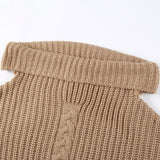 One Shoulder Casual Knitted Jumper Winter Dress