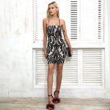 Lace Backless Elegant Lace Up Sleeveless Black Short Dress