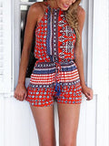 Boho Romper Style Playsuit in Red  ( 2-Days FREE SHIPPING) - Crystalline