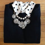 Rhinestone Snow Flower Crystal  Statement Necklace Lifestyle 3 - Crystalline