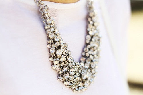 Classic Crystal Wild Collar Necklace - Crystalline