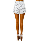 ♡Black & White Wrap Origami Asymmetrical Shorts ♡ - Crystalline