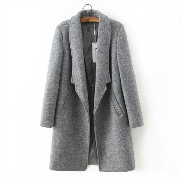 Winter Jacket Long Coat Woolen - Crystalline