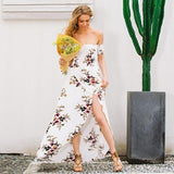 Boho Style Long Dress Off Shoulder Beach Summer Dress