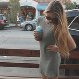 ♡ Casual Bodycon Dress Sexy Mini ♡ - Crystalline
