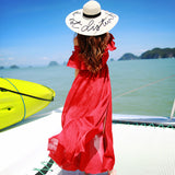 ♡ Bohemian Maxi Summer Open Shoulder Sexy Split Long Beach Dress ♡ - Crystalline