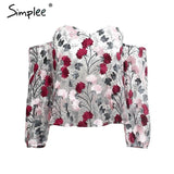 Off shoulder Embroidery Floral Shirt