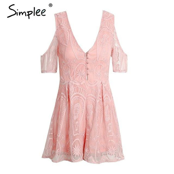 Lace Up V Neck Backless Jumpsuit Romper Off Shoulder Button Floral Summer