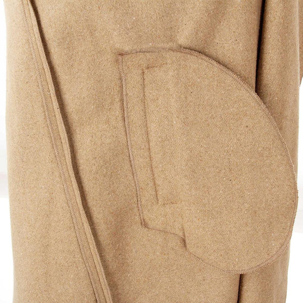 ♡ Autumn Coat Women Wide Lapel Belt Wool Coat ♡ - Crystalline