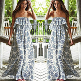 ♡ Sexy Off Shoulder Long Maxi Dress ♡ - Crystalline