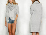 ♡ Elegant scarf knitted cardigan sweater ♡ - Crystalline