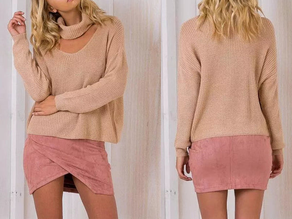 ♡ Halter knitted sweater ♡ - Crystalline
