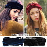 HT06 Celebrity Style Women Vintage Neon Headband Double Stretch Velvet Turban Headwrap Headwear Band 2014 New Free Drop Shipping - Crystalline