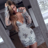 ♡ Long sleeve Sequined Dresses Holiday ♡ - Crystalline