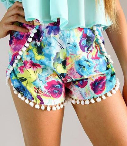 Women Casual Summer Style Shorts - Crystalline