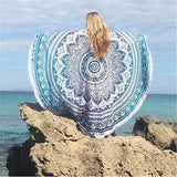 Indian Round Mandala Tapestry Wall Hanging Throw Towel Beach - Crystalline