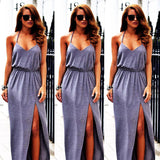 women dress Sexy Girl Boho Long Maxi Party Dress Beach Dresses - Crystalline