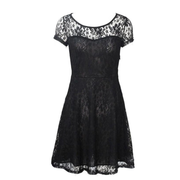 Essential 2016 New Fashion Floral Lace Sexy Women dress - Crystalline