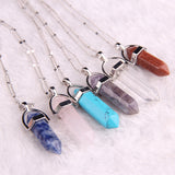 Natural stone pendant jade Color Quartz necklaces & pendants Fashion Jewelry necklace Bijoux - Crystalline
