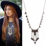≫∙∙Boho Summer Silver Layer Statement Vintage Necklace Trendy Jewelry  ∙∙≪ - Crystalline