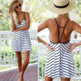 ☀ Happiness is a day at the Beach ☀ New Fashion Trendy Sexy Women Sleeveless Short Mini Dress - Crystalline
