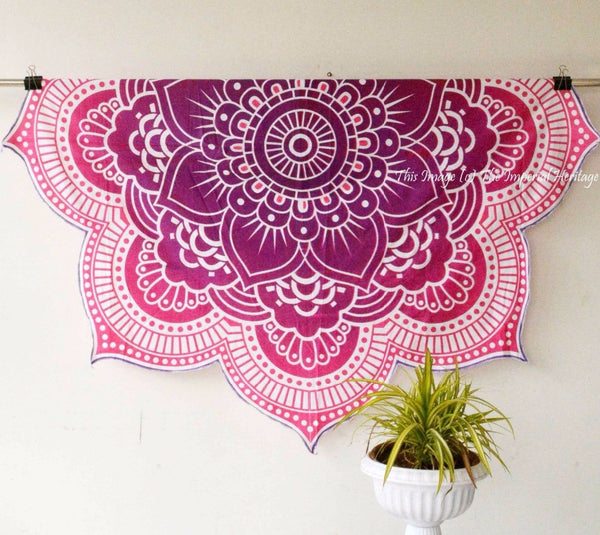 Round mandala tapestry gobelins Indian tapestry Block BedSheet wall sofa blanket Tapestry Hanging Polyester  handmade - Crystalline