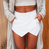 Mini Asymmetrical Trendy Mini Skorts Shorts - Crystalline