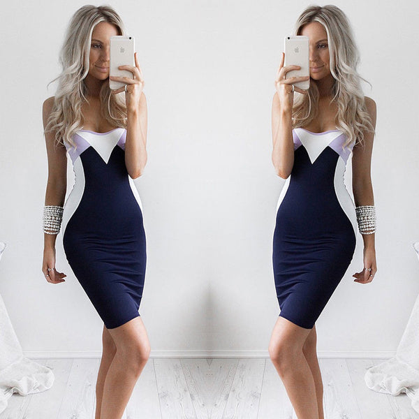 ≫∙∙Sexy Womens Sleeveless Bandage Body-con Evening Party Dress ∙∙≪ - Crystalline
