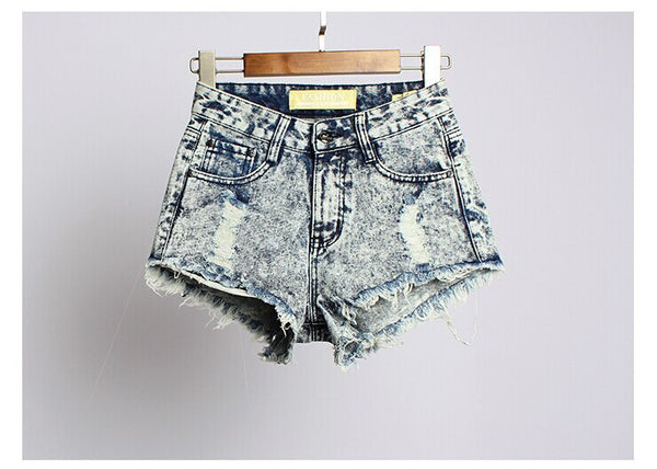Women's Fashion denim shorts Hot Summer Jeans Festival - Crystalline