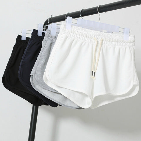 Summer Fashion Shorts Women Elastic Waist Short Pants Women - Crystalline