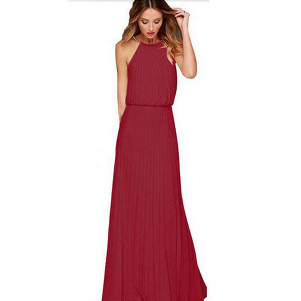 ≫∙∙Summer Boho Beautiful Halter Maxi Dress Beach Fashion Dress ∙∙≪ - Crystalline