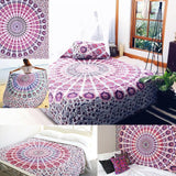 Hippie Mandala Tapestry  Bed Sheet Beach Towel - Crystalline