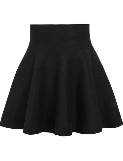 Black High Waist Ruffle Skirt - Crystalline