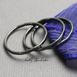 A Set of 3 Sterling Silver Stacking Rings