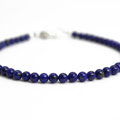 3mm Lapis Bead Bracelet