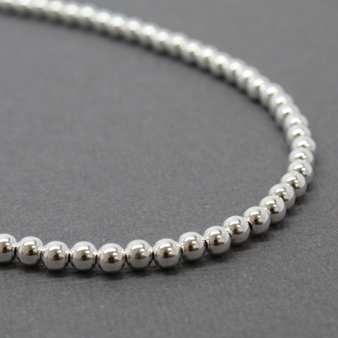 Small  Sterling Silver Bead Necklace Strand