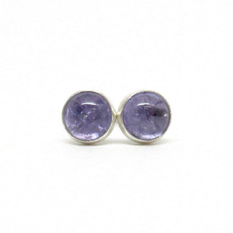 Tanzanite Stud Earrings Small 4mm Sterling Silver