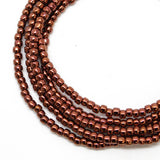 Copper Seed Bead Necklace-