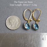 Rainbow Topaz Gold Filled Lever Back Earrings